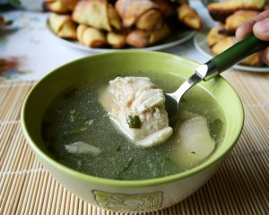 อาหารรัสเซีย Ukha (Russian fish soup), river fish version
